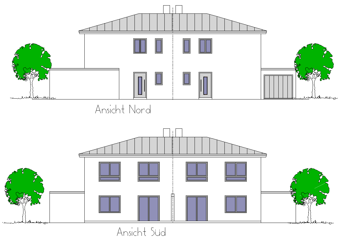 2 Doppelhaushälften mit Garage (W014) in Straubing – Kagers