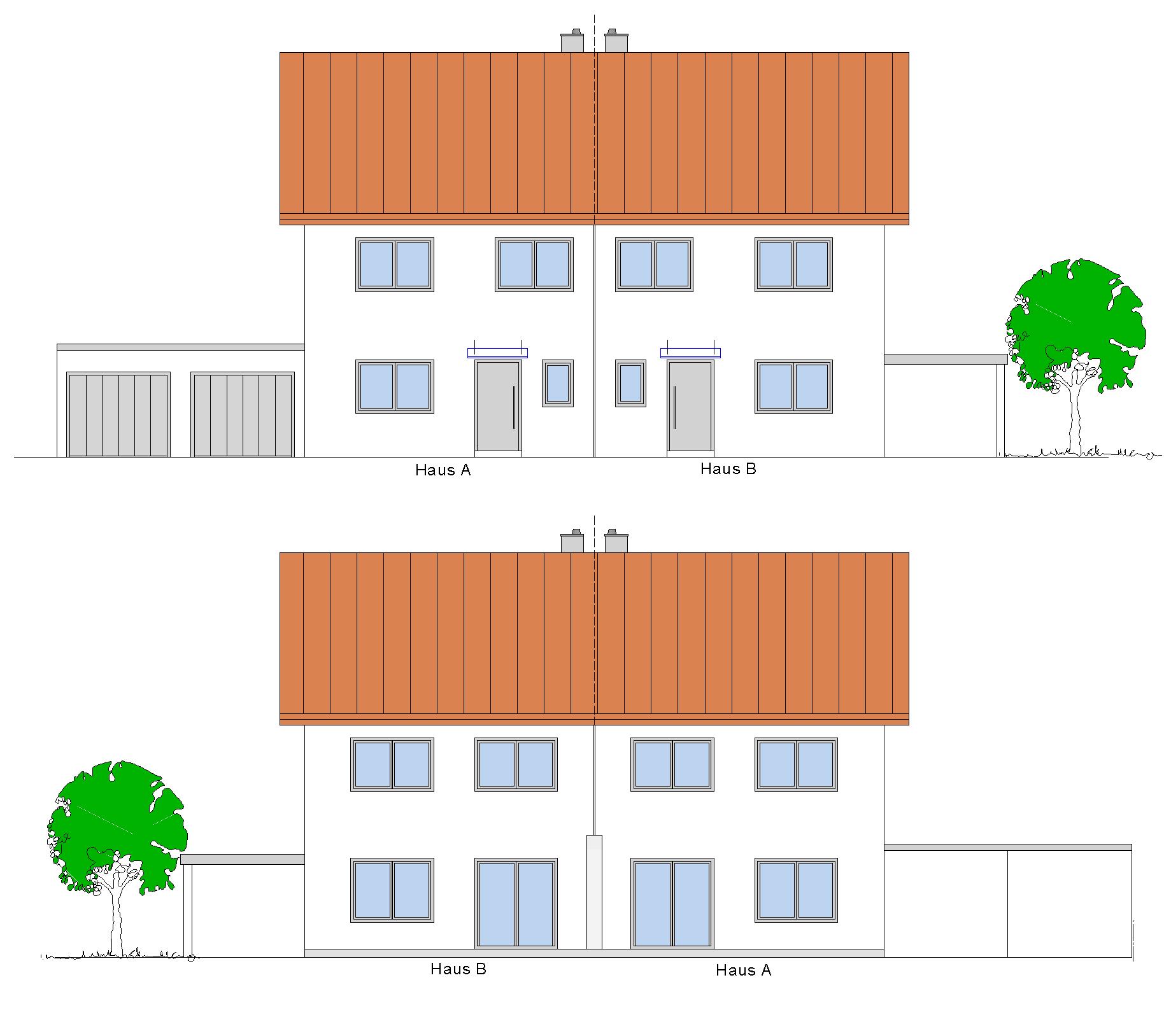 Doppelhaushälften mit Garagen (W010-15) in Egg, Bernried