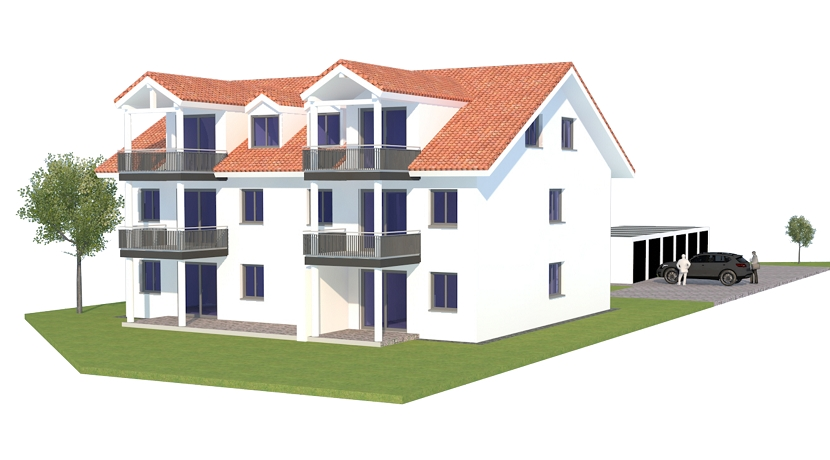 Eigentumswohnung in 5-Familienhaus (W010-1) in Egg-Bernried