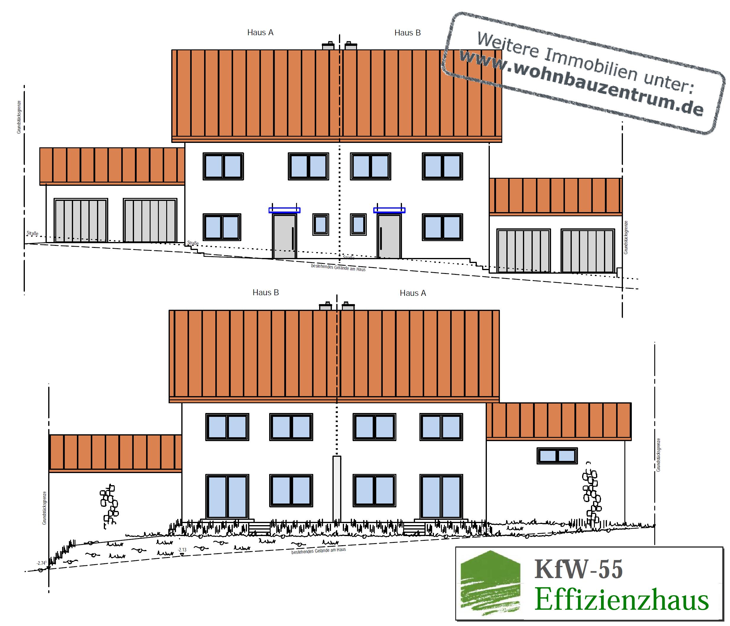"""KfW-55-Doppelhaushälfte in Grafling """"Hofäcker"""""""